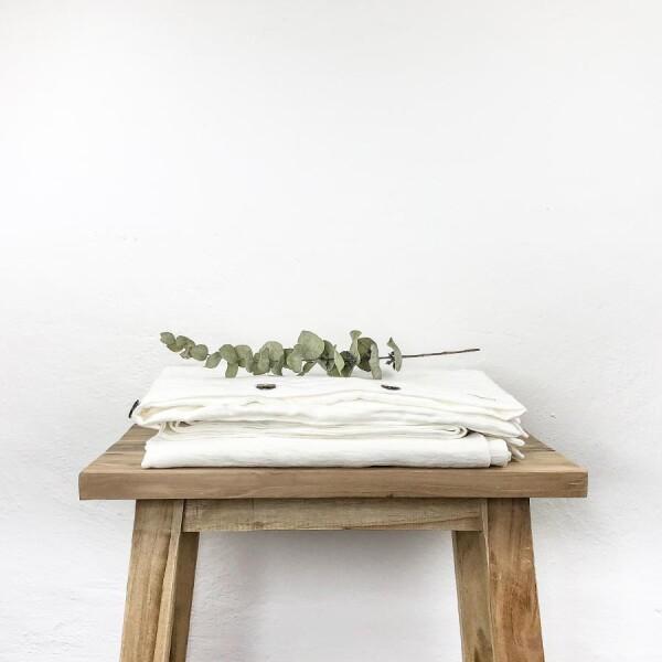 Linen bedding set Liv white - Lundkvist | Lundkvist Home & Living