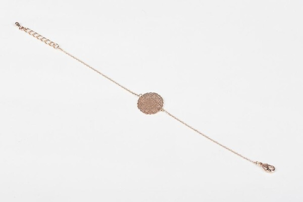 Bracelet with Mandala 2 motif rose gold plated   Perlenmarkt