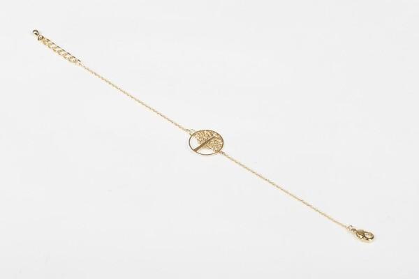 Bracelet with tree of life motive gilded | Perlenmarkt
