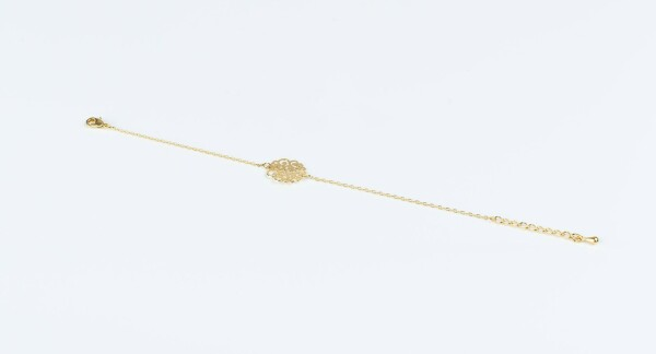 Bracelet with mandala 1 motif gold plated   Perlenmarkt
