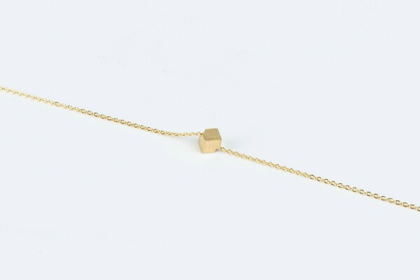 Bracelet with cube motif gold plated | Perlenmarkt