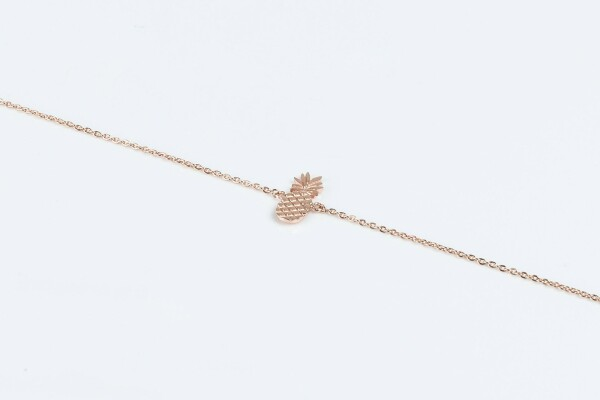 Bracelet with pineapple motif rose gold plated   Perlenmarkt