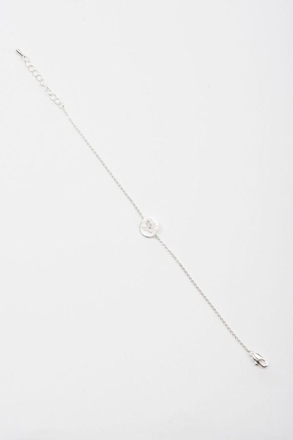 Bracelet with discs motif flat frosted silverplated | Perlenmarkt