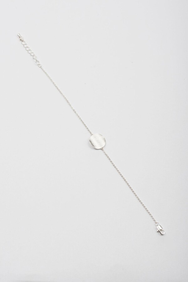Bracelet with discs motive wavy frosted silvered | Perlenmarkt