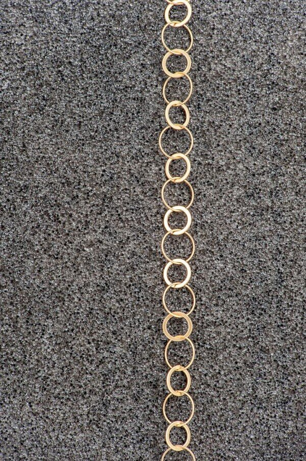 Charm bracelet link bracelet with round links gilded | Perlenmarkt