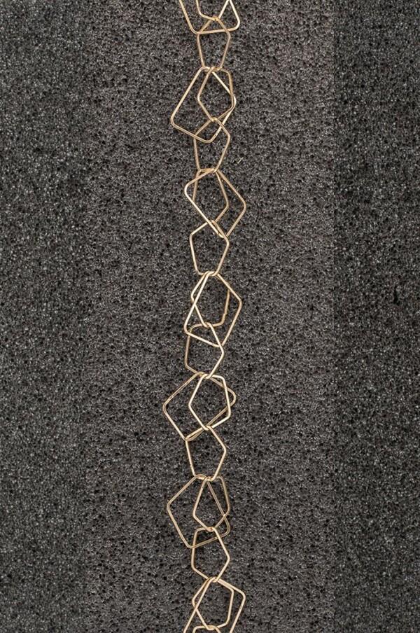 Charm bracelet link bracelet small pentagon silver plated DUPLICATE | Perlenmarkt