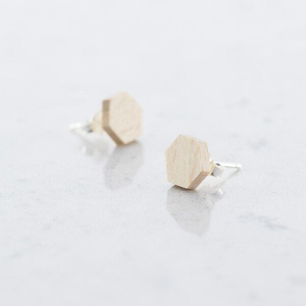 Wooden Beech HEXAGON EARPLUGS | Debosc