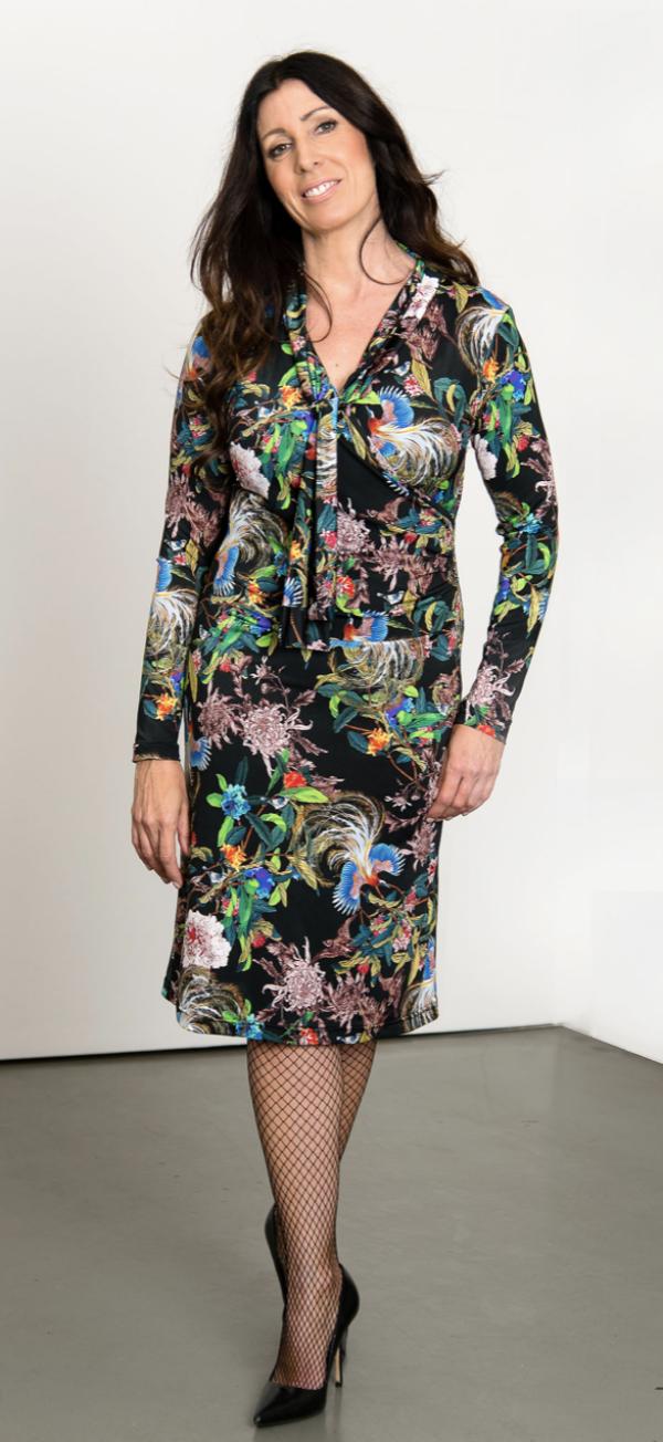 Wrap dress with sleet | L - GABRIELLE