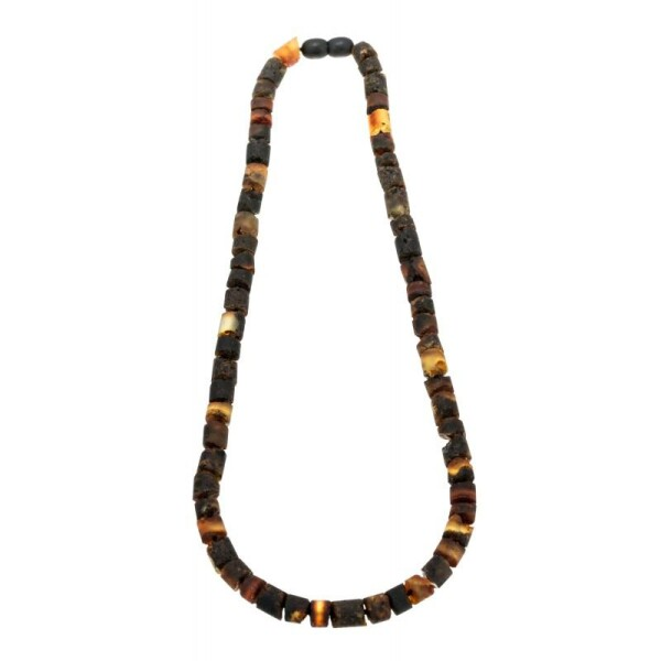 Necklace Black amber beads | BalticBuy