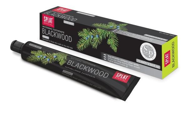 Splat Blackwood Fluoride-free black charcoal toothpaste   House of Glamour