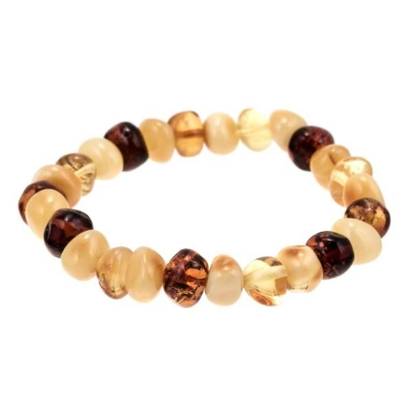 Bracelet of irregularly-shaped amber pieces | BalticBuy
