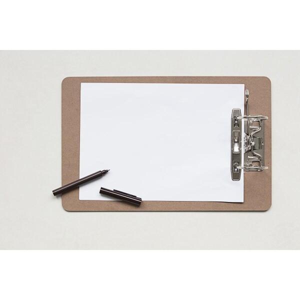 Monograph brown clipboard A4   Papperlapapp