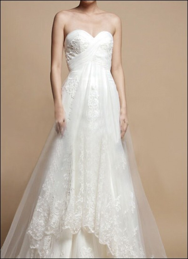 Romantic wedding dress with lace a-line | Lafanta | Abend- und Brautmode