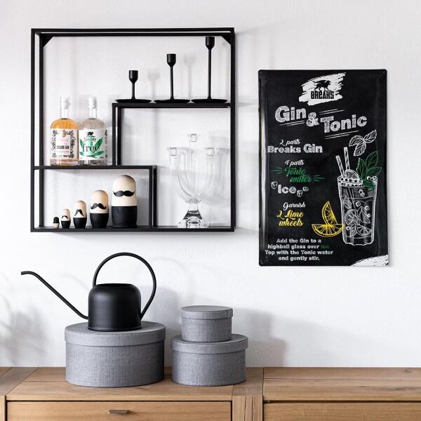 3D tin sign Gin & Tonic | Breaks Gin Manufaktur