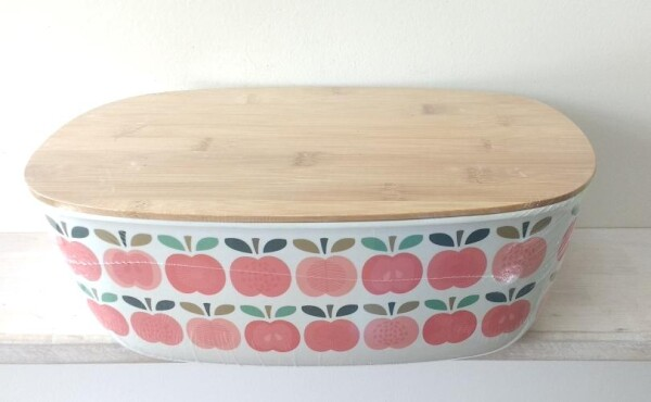 Bread box vintage apple bamboo | Calluna Cottage