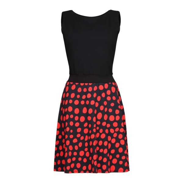 Dress Calla black red - cherry green | kirsch-grün
