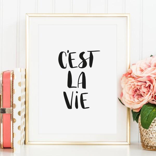 Tales by Jen Art Print: C'est la vie | Tales by Jen