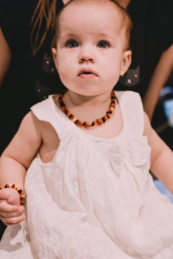 Children variegated amber beads | BalticBuy