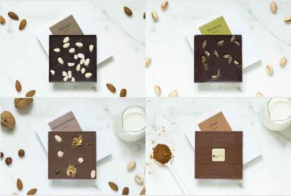 Noble set of 4 chocolate bars | chokoin