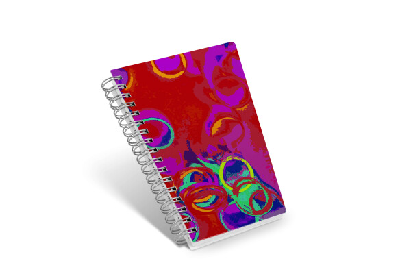 Notebook diagonal and beautiful - Trapez16 - circle in red | abanico4you