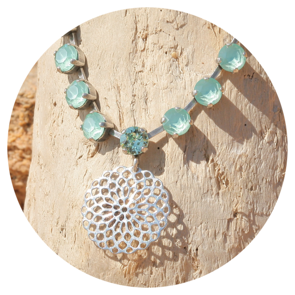 artjany necklace mandala mint green | artjany - Kunstjuwelen