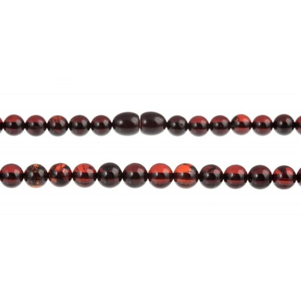 Clear cherry-amber necklace | BalticBuy