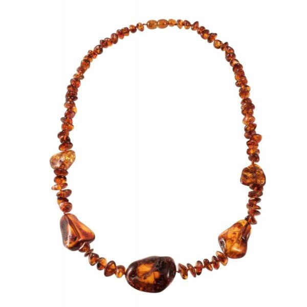Cognac amber necklace | BalticBuy