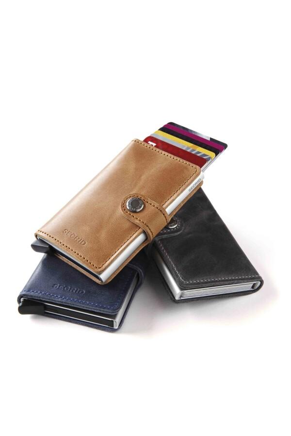 SECRID Miniwallet purse vintage black leather | JUWEL Concept Store