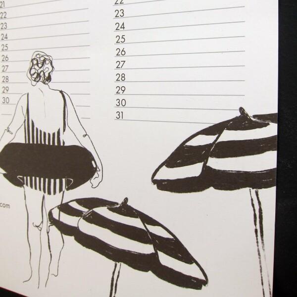 Nuukk Women Bathing Birthday Calendar   Papperlapapp