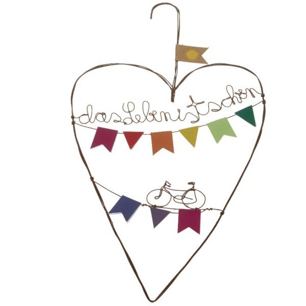Decorative Heart Life is beautiful   Das Lädchen