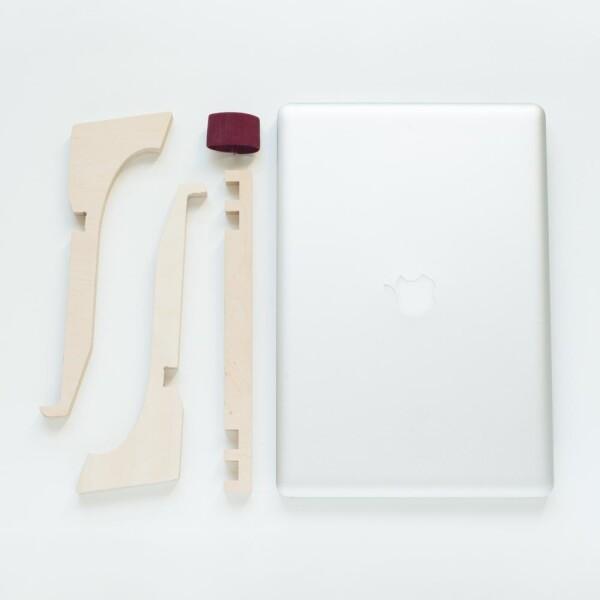 Wooden laptop holder - DEBEAM | Debosc