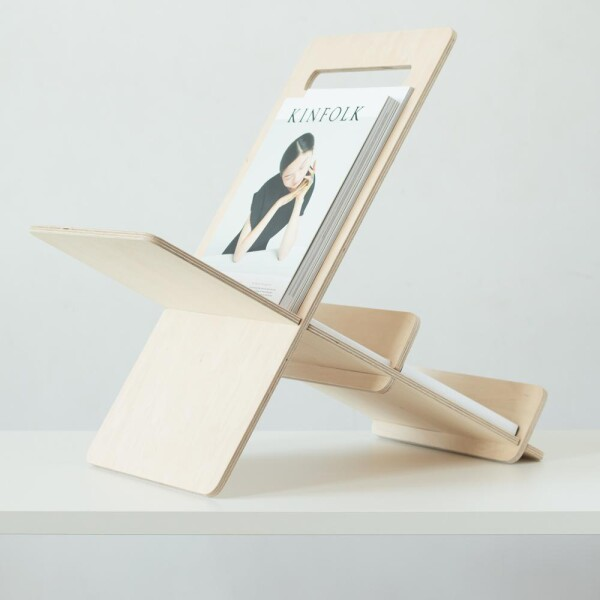 Magazine holder made of wood Debook | Debosc
