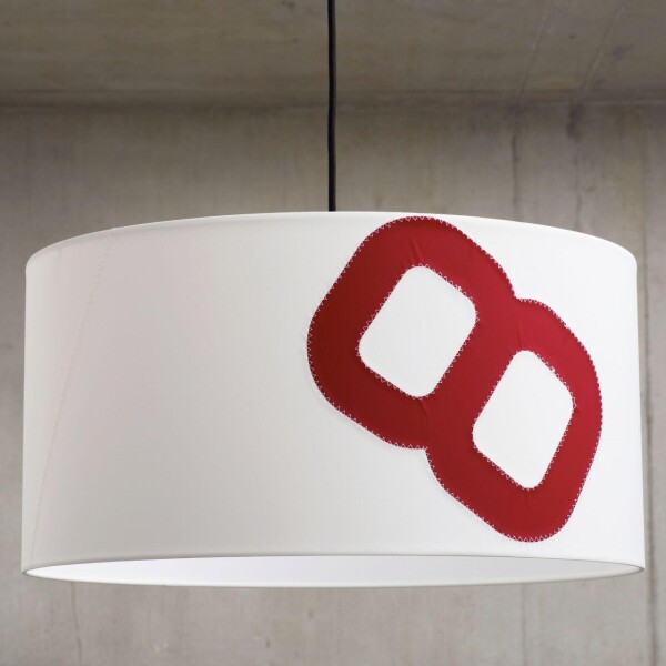 Maritime ceiling lamp home port 60cm sail with textile cable   lumbono