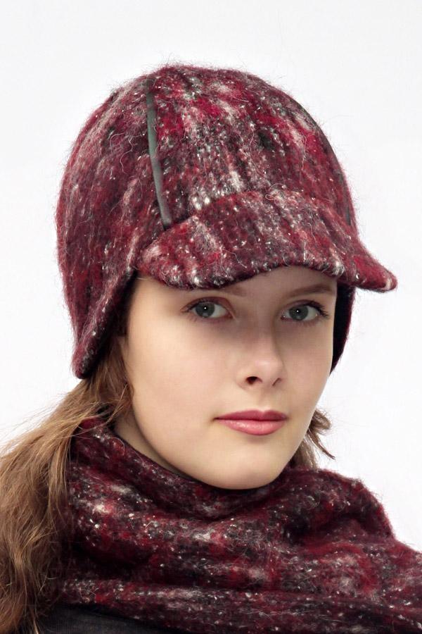 Burgundy round cap DINA_190 | MOLOTOW