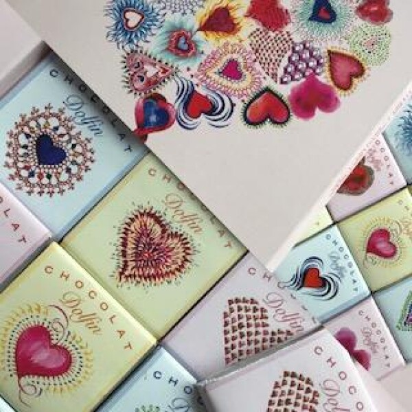 Chocolate Present Love with 24 Napolitains | chokoin