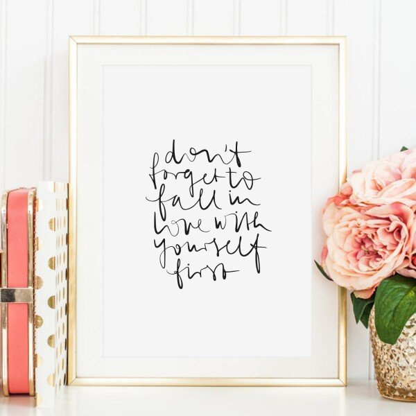 Tales by Jen Art Print: Do not forget to fall in love with yourself first | Tales by Jen