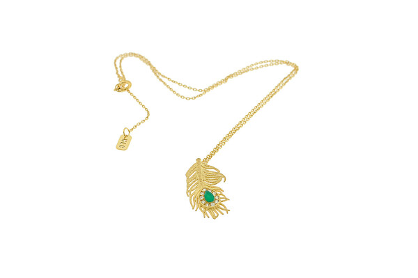 Necklace Small Peacock Gold | HLC Jewellery