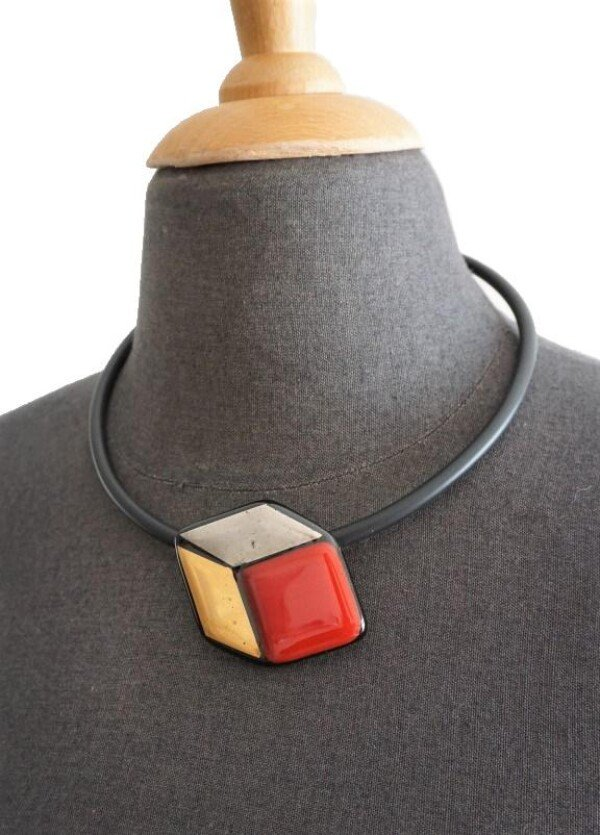 Glass cubes red gold silver | Design Elena
