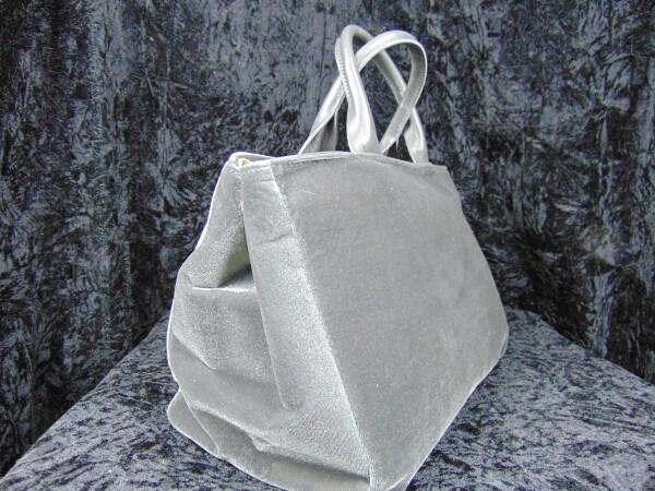 Leather velvet handbag gray | Iris Berghoff