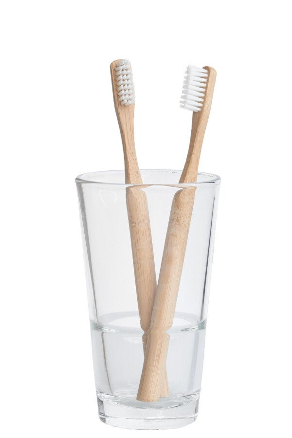 Set of 2 - sustainable toothbrushes made of bamboo | Grinskram - Green Home Market