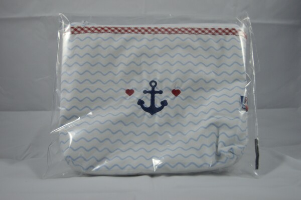 Toiletry bag with waves and anchor | LAND- KINDer
