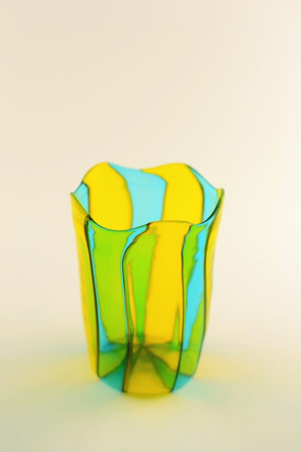 Murano glass blown mug
