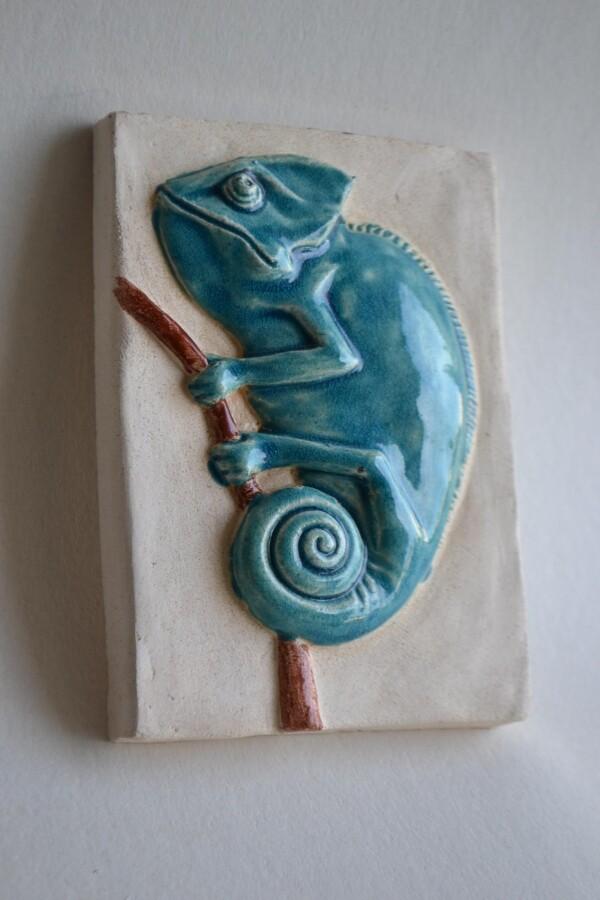 Green Chameleon 1 | Todini- sculture d'arredamento