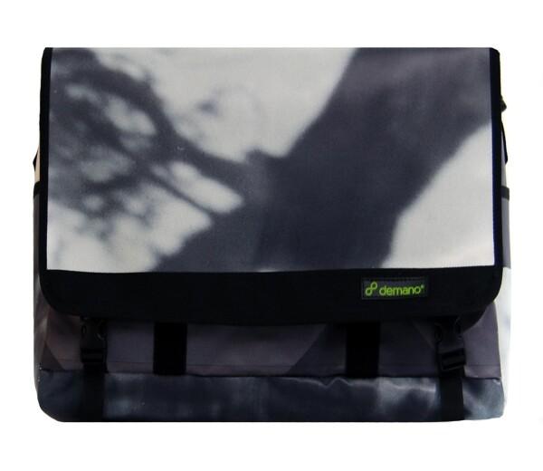 Brompton Bag Diagonal Mar // Grey - Black | Demano