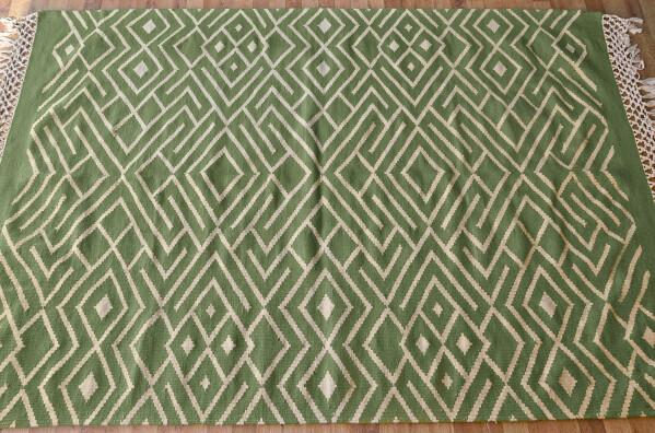 Wool kilim carpet