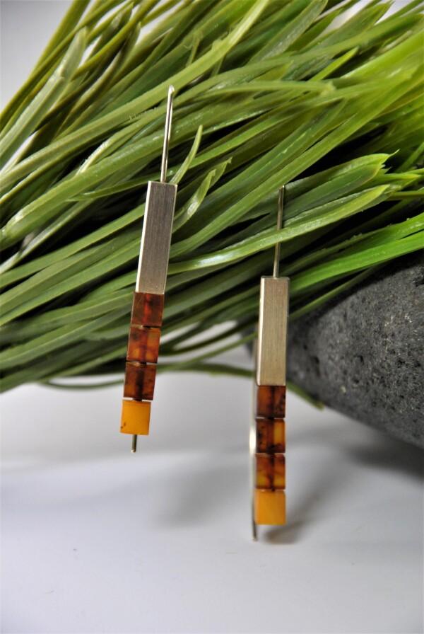 Amber designer earrings   Atelier Schmuck Tönnissen