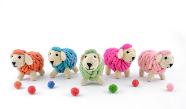 Handmade sheep figurine made out of felt | Ariee Home & Gifts