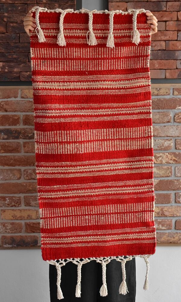 Handmade wool kilim runner_red | Ariee Home & Gifts