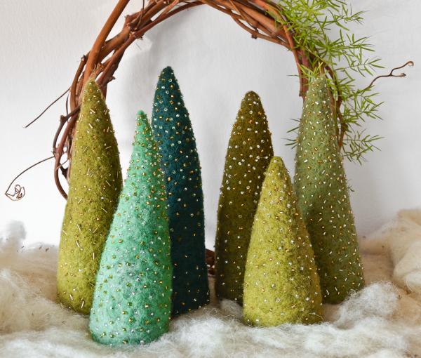 Set o 3_Handmade Felt Christmas Tree | Ariee Home & Gifts