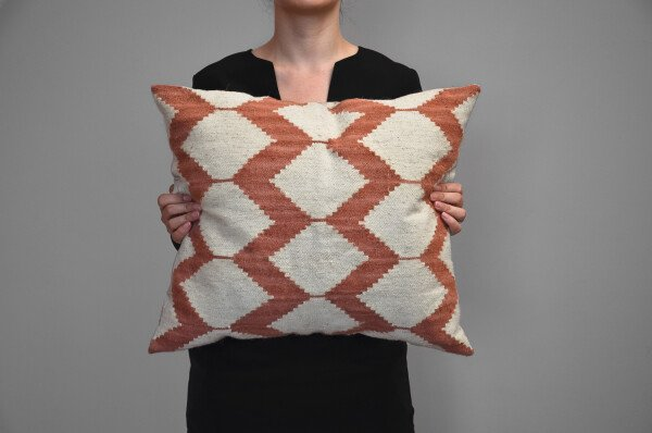 Kilim wool cushion - Honeycombs | Ariee Home & Gifts
